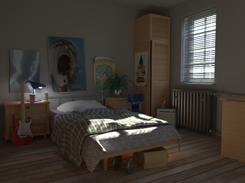 Bedroom rendered by Lagoa.