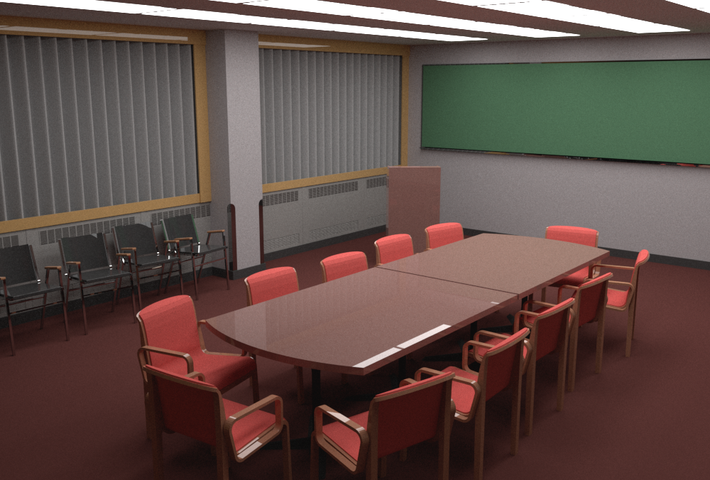 First camera perspective rendered by mental ray