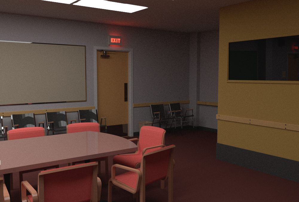 Third camera perspective rendered by mental ray
