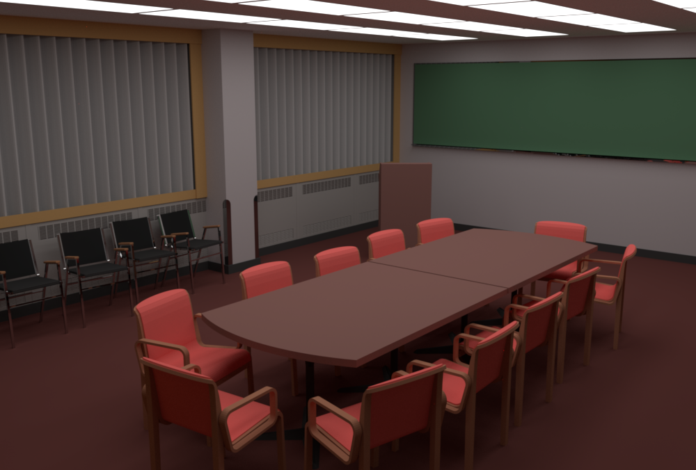 Conference room rendered byrs_pbrt