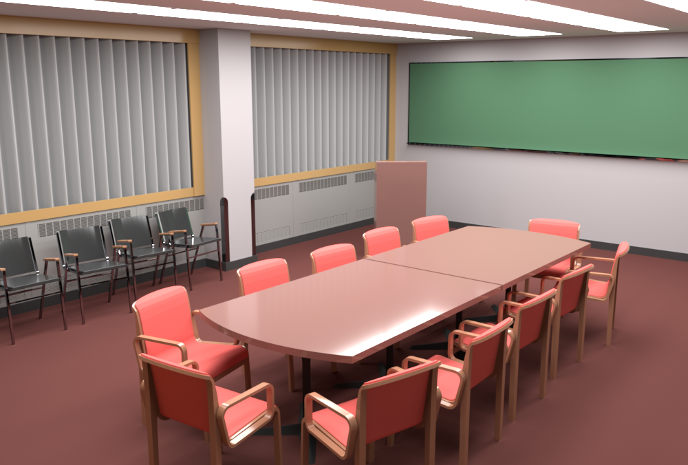 Conference Room rendered by RenderMan (camera 1).