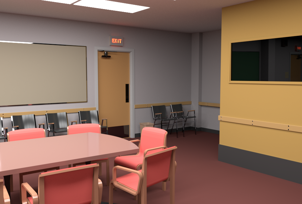Conference Room rendered by RenderMan (camera 3).