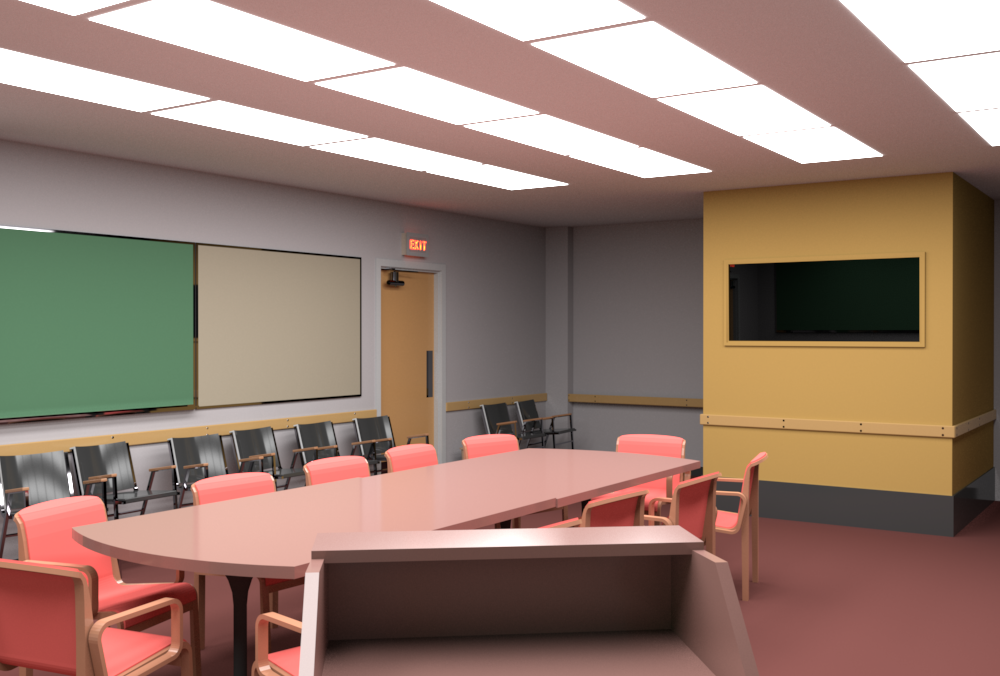 Conference Room rendered by RenderMan (camera 4).