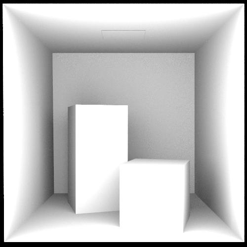 Cornell Box scene rendered via Rust using  AO