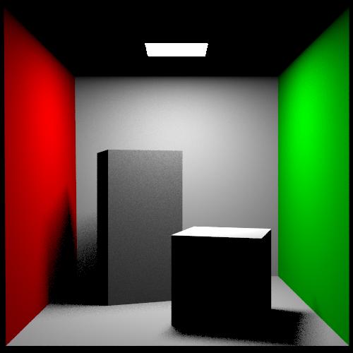 Cornell Box scene rendered via Rust version of  PBRT