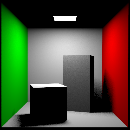 Cornell Box scene rendered with direct lighting