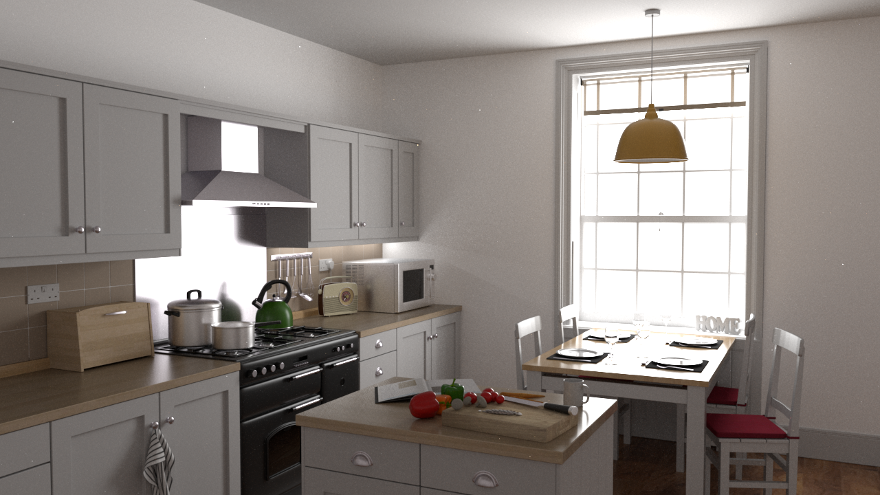 Kitchen rendered byrs_pbrt