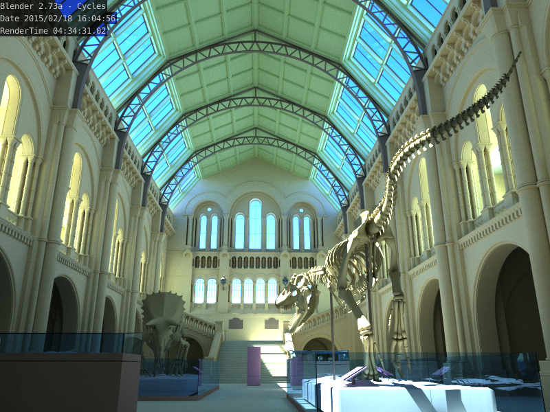 The Natural History Museum rendered by Cycles