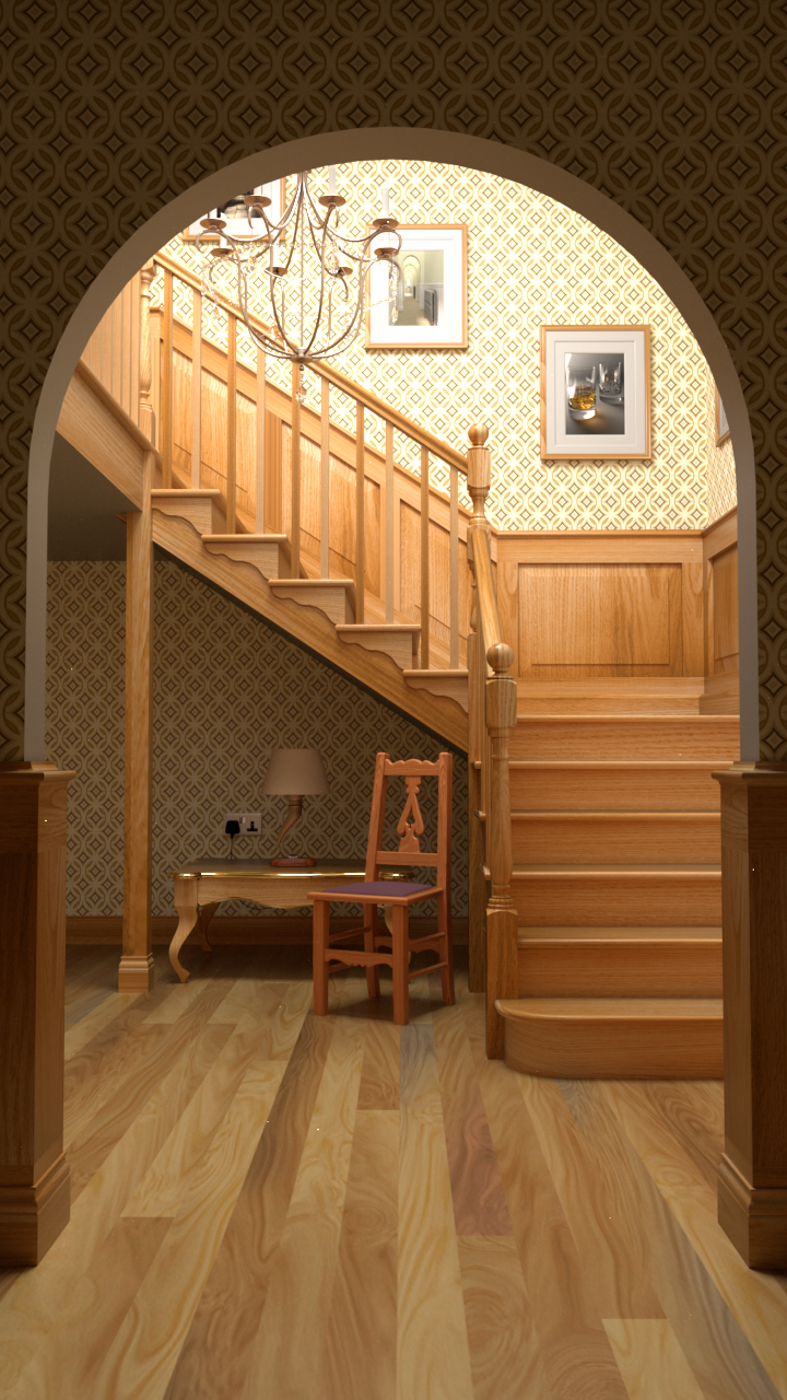 Staircase rendered byrs_pbrt